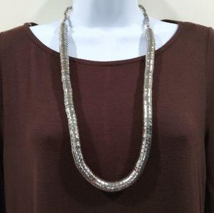 Unique Silver Long Necklace